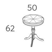 Стол кофейный Панамар 169.050 схема