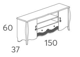 Тумба ТВ Панамар 205.150 схема